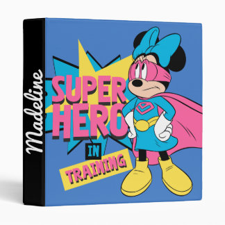 Minnie Mouse | Super Hero in Training 3 Ring Binders