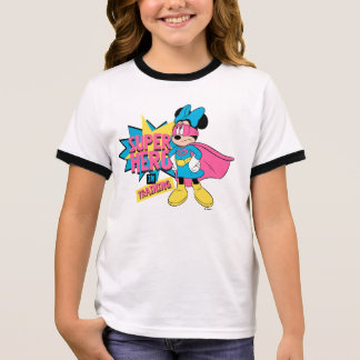 Minnie Mouse | Super Hero in Training Ringer T-Shirt