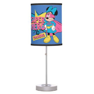 Minnie Mouse | Super Hero in Training Table Lamp