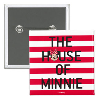 Minnie Mouse | The House of Minnie 2 Inch Square Button