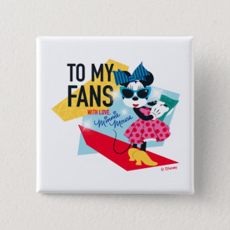 Minnie Mouse | To My Fans With Love 2 Inch Square Button