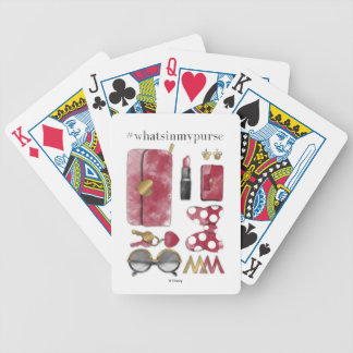 Minnie Mouse | #what'sinmypurse Bicycle Playing Cards