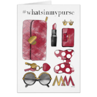Minnie Mouse | #what'sinmypurse Card