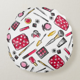 Minnie Mouse | #what'sinmypurse Pattern Round Pillow