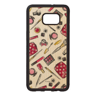 Minnie Mouse | #what'sinmypurse Pattern Wood Samsung Galaxy S6 Edge Case
