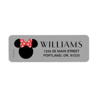 Minnie Polka Dot Head Silhouette | Monogram