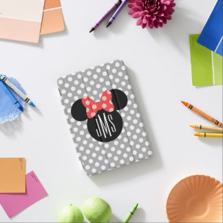 Minnie Polka Dot Head Silhouette | Monogram iPad Mini Cover