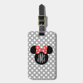 Minnie Polka Dot Head Silhouette | Monogram Luggage Tag