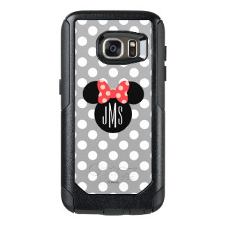 Minnie Polka Dot Head Silhouette | Monogram OtterBox Samsung Galaxy S7 Case