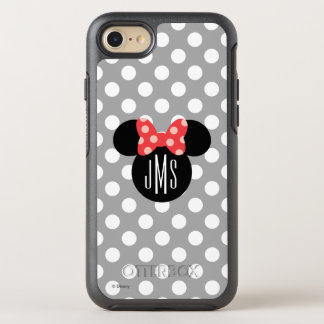 Minnie Polka Dot Head Silhouette | Monogram OtterBox Symmetry iPhone 7 Case
