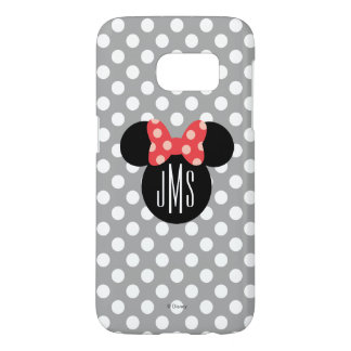 Minnie Polka Dot Head Silhouette | Monogram Samsung Galaxy S7 Case