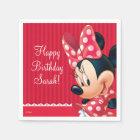 Minnie Red and White Birthday Paper Napkin
