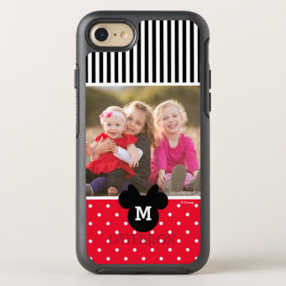 Minnie Red Polka Dot   Custom Photos & Monogram OtterBox Symmetry iPhone 7 Case