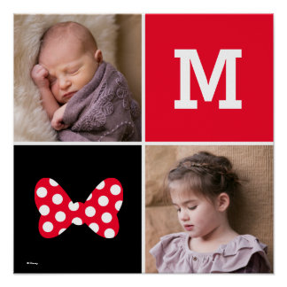 Minnie Red Polka Dot | Custom Photos & Monogram Poster