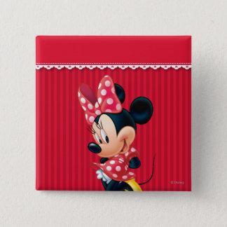 Minnie | Shy Pose 2 Inch Square Button