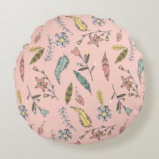 Minnie | Wildflower Pattern Round Pillow
