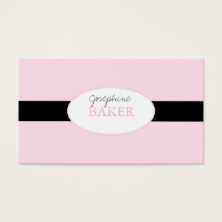minniemay silver damask pink+black business card