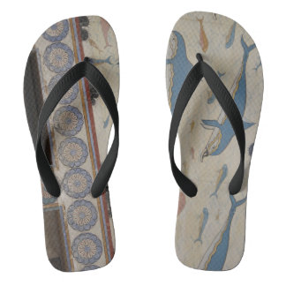 Minoan Fresco Art Flip Flops
