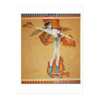 Minoan Fresco Art Minoan Art of Ancient Crete Postcard