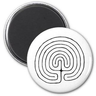 Minoan Labrynth 2 Inch Round Magnet