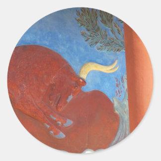 Minoan Palace of Knossos RED BULL Round Sticker