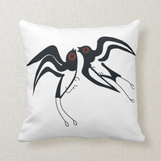 Minoan Swallow Throw Pillow