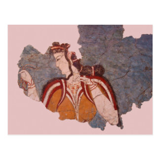 Minoan Wall Painting Postcard