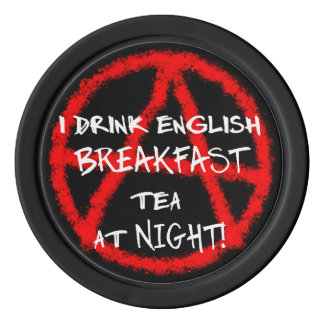 """Minor rebel"": English Breakfast Poker Chips"