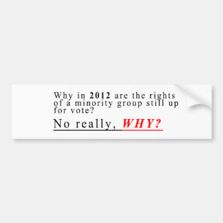 Minority Rights Bumper Sticker