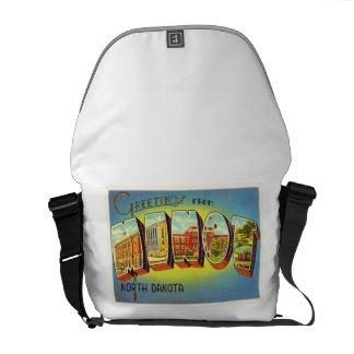 Minot North Dakota ND Old Vintage Travel Souvenir Courier Bags