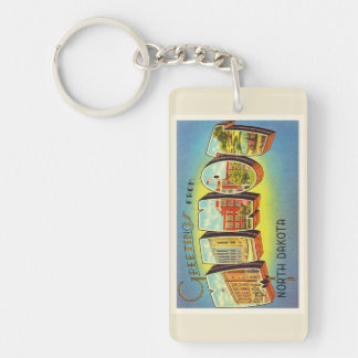 Minot North Dakota ND Old Vintage Travel Souvenir Double-Sided Rectangular Acrylic Keychain