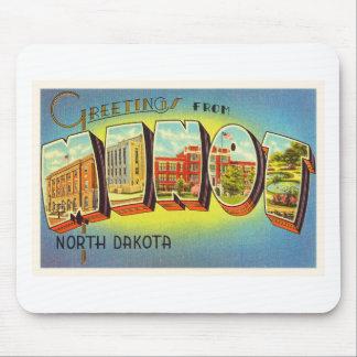 Minot North Dakota ND Old Vintage Travel Souvenir Mouse Pad