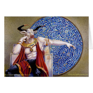 Minotaur with Mosaic Card