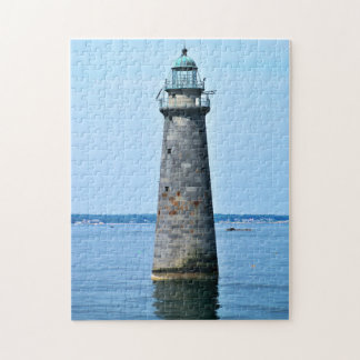Minots Ledge Lighthouse Mass. Jigsaw Puzzle