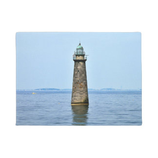 Minots Ledge Lighthouse Massachusetts Door Mat