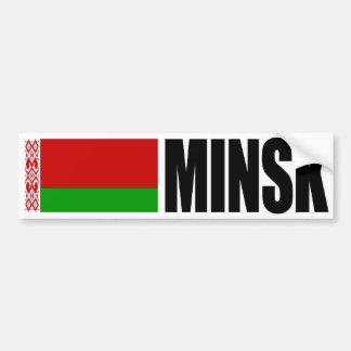 Minsk Belarus Flag Bumper Sticker