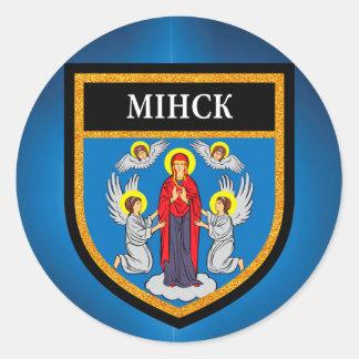 Minsk Flag Classic Round Sticker