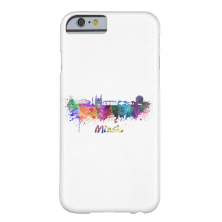 Minsk skyline in watercolor barely there iPhone 6 case