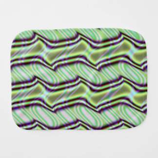 Mint Alley Fractal Baby Burp Cloth