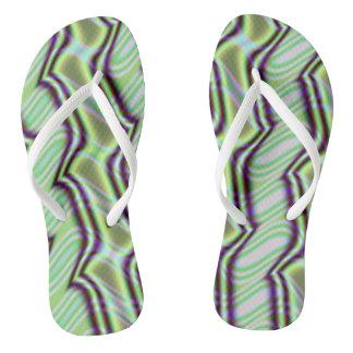 Mint Alley Fractal Flip Flops