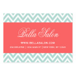 Mint and Coral Modern Chevron Stripes