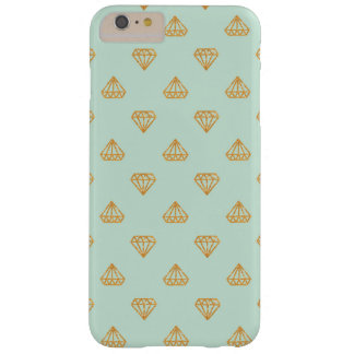 Mint and Gold Glitter Diamonds iPhone Case