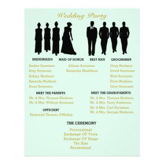 Mint And Gold Heart Polka Dot Wedding Flyer