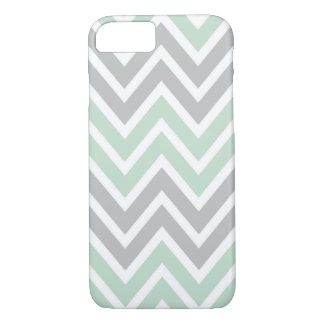 Mint and Grey Chevron iPhone 7 Case