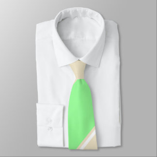 Mint and Tea-Colored Diagonally-Striped Tie
