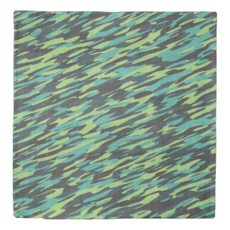 mint and turquoise camo duvet cover