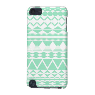 Mint and White Aztec Pattern iPod Touch 5G Case