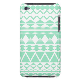 Mint and White Aztec Pattern iPod Touch Covers