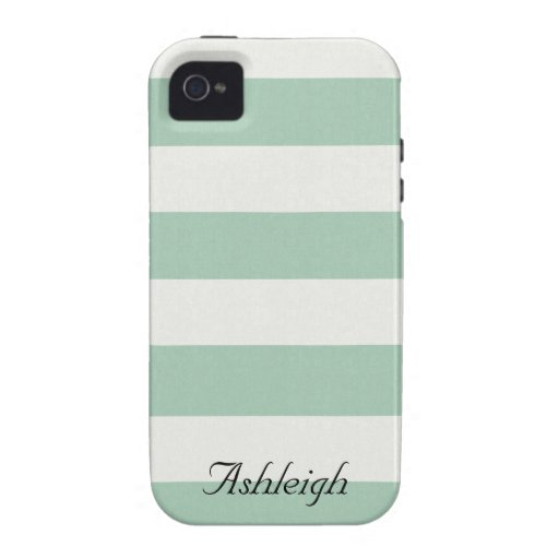 Mint and White Stripes iPhone 4 Covers