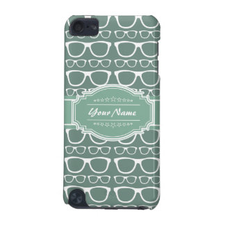 Mint and Whitte Glasses Pattern Personalized iPod Touch (5th Generation) Case